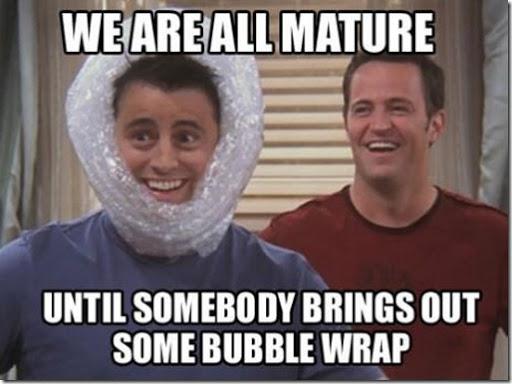 friends bubble wrap