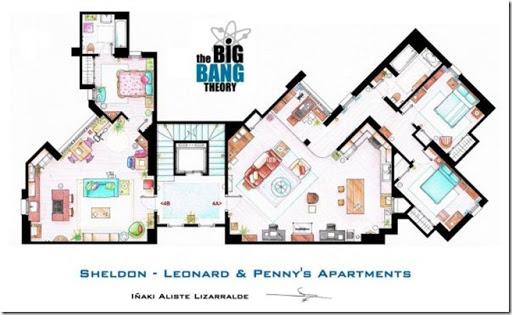 Television-Series-Apartments-Floor-Plans-Big-Bang-Theory