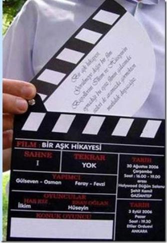 sinema davetiye